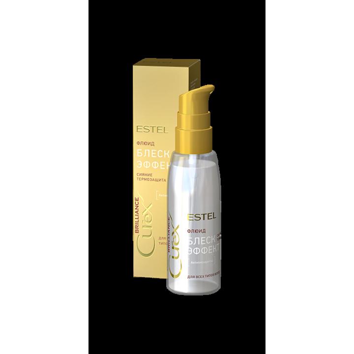 CUREX BRILLIANCE Флюид-блеск для всех типов волос волос с термозащитой, 100 мл