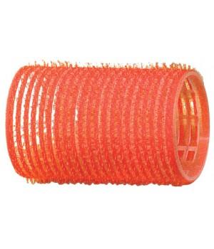 DEWAL Бигуди-липучки красные (36 мм, 12 шт)