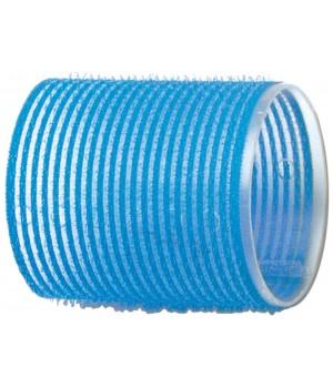 DEWAL Бигуди-липучки голубые (55 мм, 6 шт)