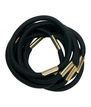 DEWAL Резинки д.волос черные макси 10шт//RE021