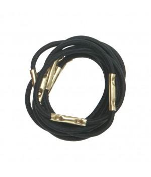 DEWAL Резинки для волос черные мини 10шт//RE027