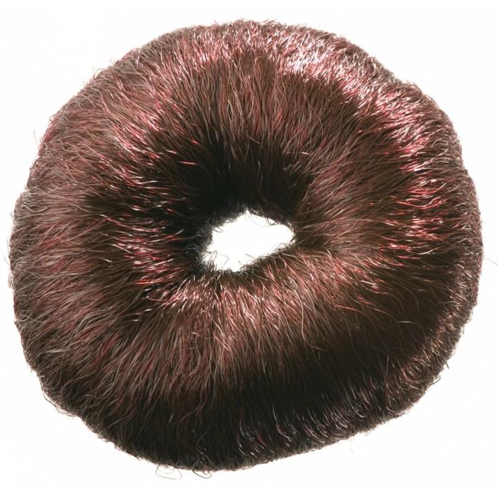 DEWAL Валик круглый коричневый из искусственного волоса //HO-5115 Brown