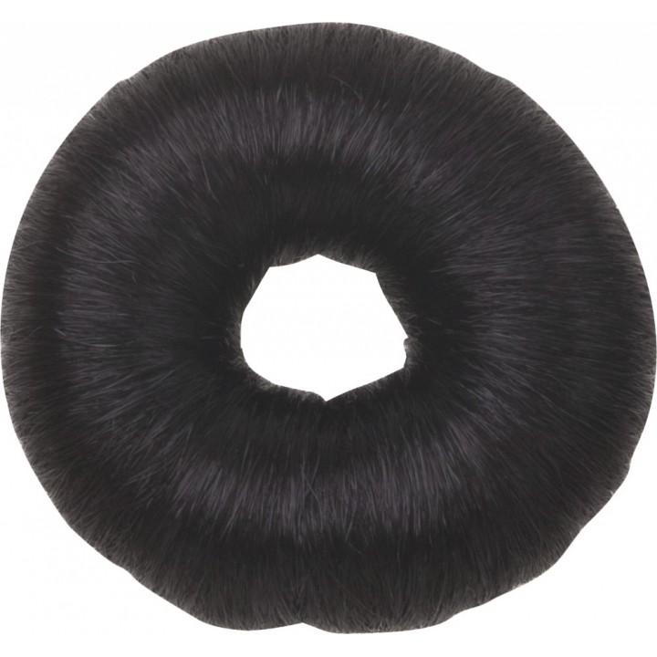 DEWAL Валик круглый черный из искусственного волоса//HO-5115 Black