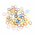 DEWAL Резинки д.волос силикон  цветные микс мини 100шт//RES035,