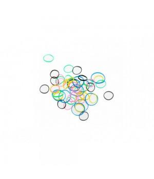 DEWAL Резинки д.волос силикон цветные мини 100шт //RES031