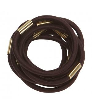 DEWAL Резинки д.волос коричневые макси 10шт //RE022