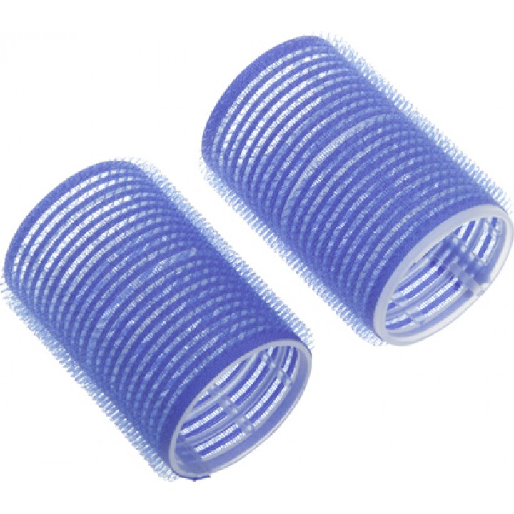 DEWAL Бигуди-липучки 16мм синие 12шт//RVTR-9