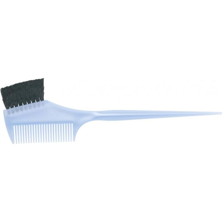 DEWAL Кисть д/окраски с черн.волнист.щетиной, с расческой, голубая узкая 55мм//JPP049Blue
