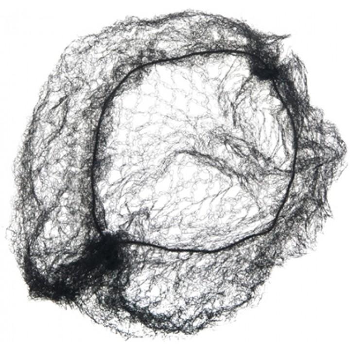 DEWAL Сеточка-паутинка для пучка черная 2шт//CE050