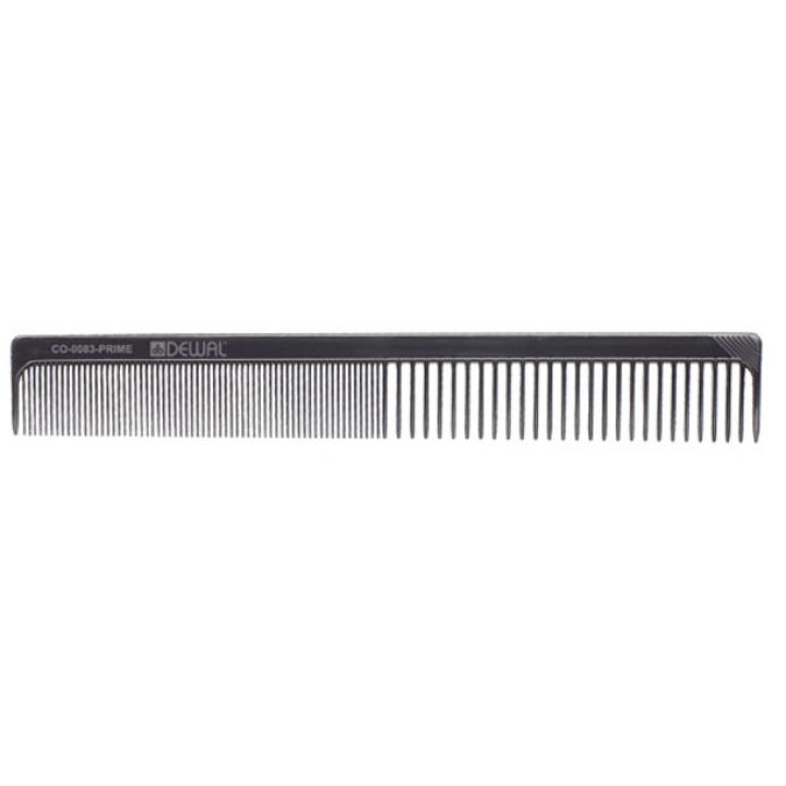 DEWAL Расчёска PRIME рабочая комбинированная (черная, 20см)