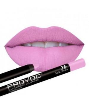 Provoc Gel Lip Liner 16 Satin Sheets Гелевая подводка в карандаше для губ,