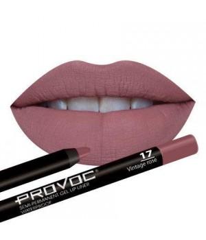 Provoc Gel Lip Liner 17 Vintage Rose Гелевая подводка в карандаше для губ