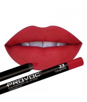 Provoc Gel Lip Liner 23 Dangerous Гелевая подводка в карандаше для губ