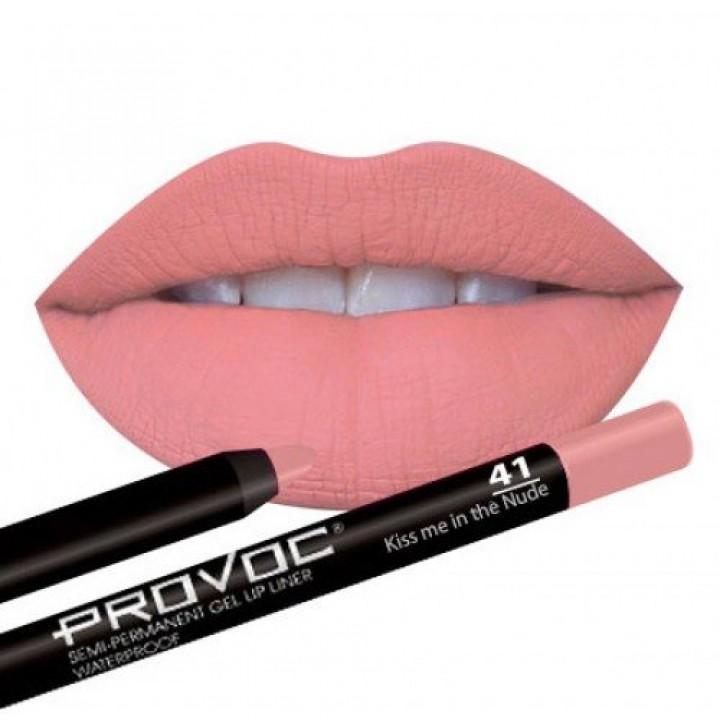 Provoc Gel Lip Liner 41 Kiss me in the Nude Гелевая подводка в карандаше для губ