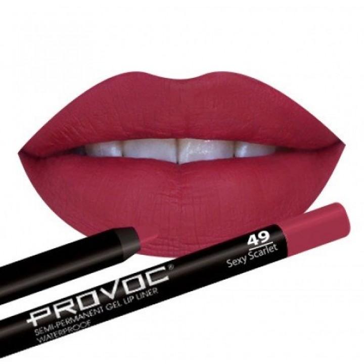 Provoc Gel Lip Liner 49 Sexy Scarlet Гелевая подводка в карандаше для губ