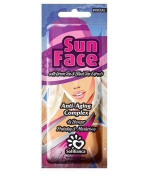 SolBianca Sun Face Крем для загара в солярии 4 бронзатора, антивозрастной комплекс 15мл