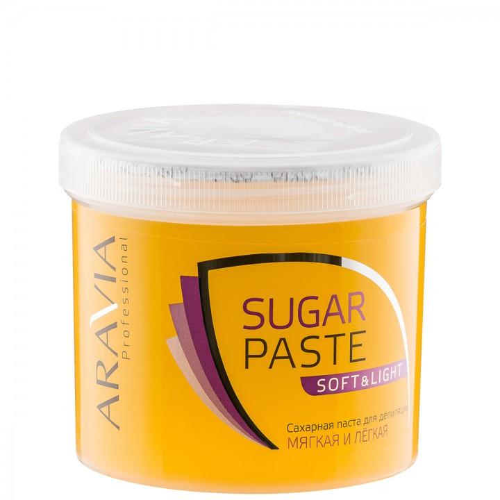 """Сахарная паста для депиляции """"Мягкая и легкая"""" мягкой консистенции ARAVIA Professional, 750гр."""