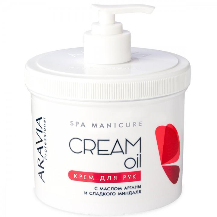 Крем для рук Cream Oil с маслом арганы и сладкого миндаля ARAVIA Professional, 550мл