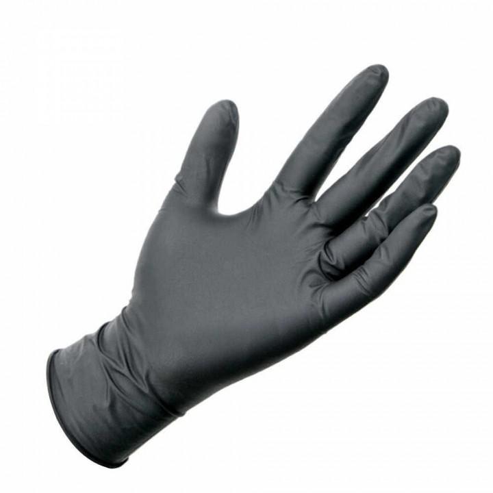 ProfCosmo Перчатки нитриловые ЧЕРНЫЕ М (50 пар) 96078
