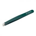 METZGER Пинцет скошенный зеленый//PT-356-GR