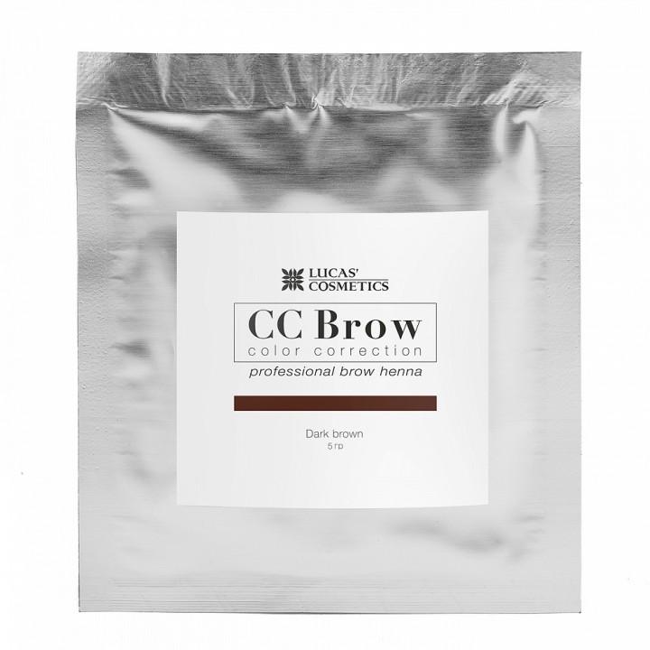 CC Brow dark brown Хна для бровей (цвет темно-коричневый в саше 5гр)