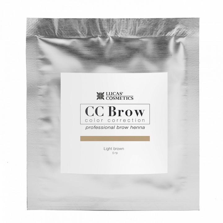 CC Brow light brown Хна для бровей (цвет светло-коричневый в саше 5гр)