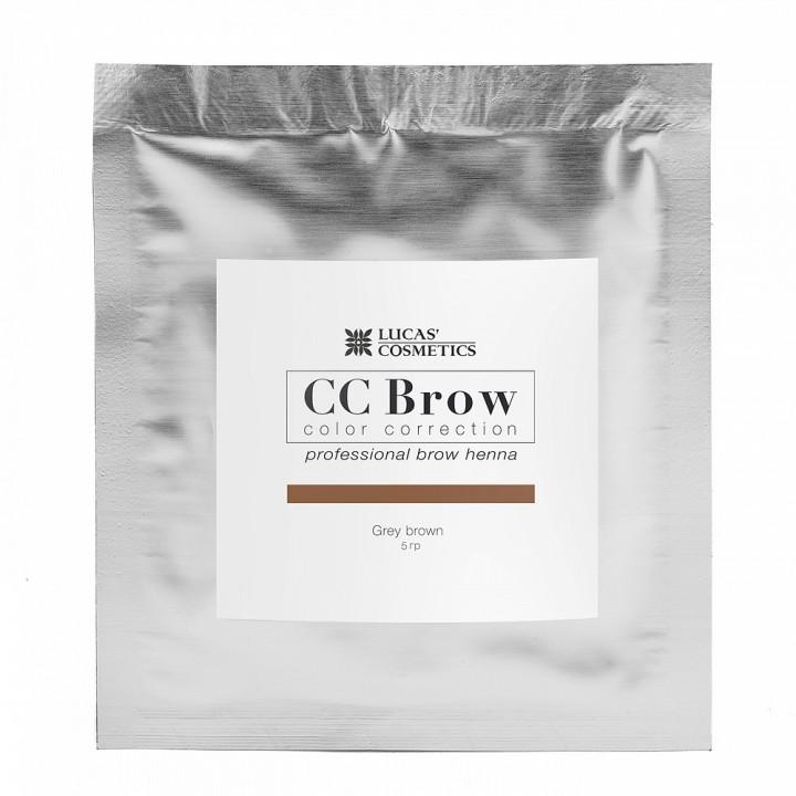 CC Brow grey brown Хна для бровей (цвет серо-коричневый в саше 5гр)