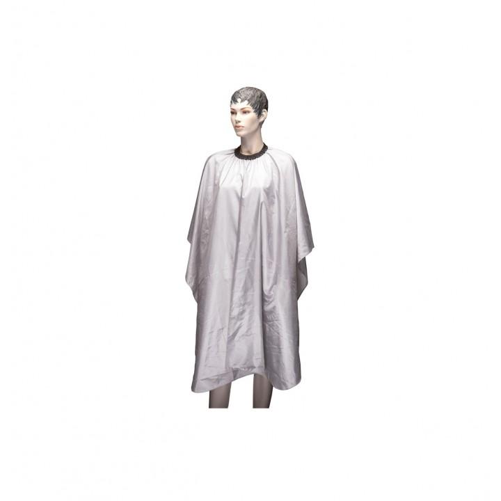 """DEWAL Пеньюар для стрижки """" Палитра """", полиэстер, серый  , 128х146 см, на крючк//AA23 light grey"""