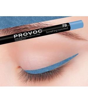 Provoc Gel Eye Liner 70 Something borrowed Гелевая подводка в карандаше для глаз (небесно-голубой)