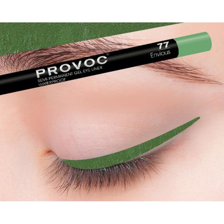 Provoc Gel Eye Liner 77 Envious  Гелевая подводка в карандаше для глаз,