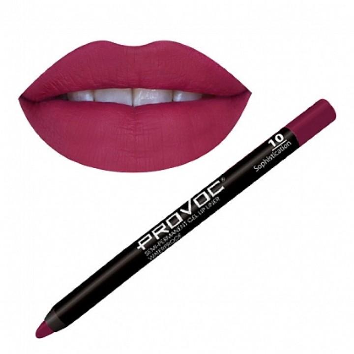 Provoc Gel Lip Liner 10 Гелевая подводка в карандаше для губ