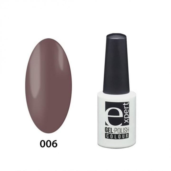 006 «expert» гель-лак цветной, Latte (серо-коричневый), 5мл