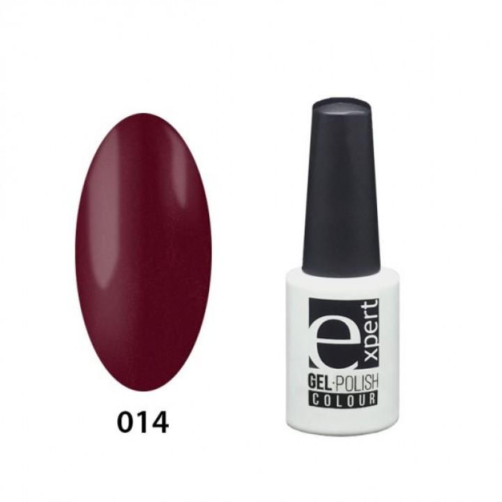 014 «expert» гель-лак цветной, Burgundy (красно-малиновый), 5мл