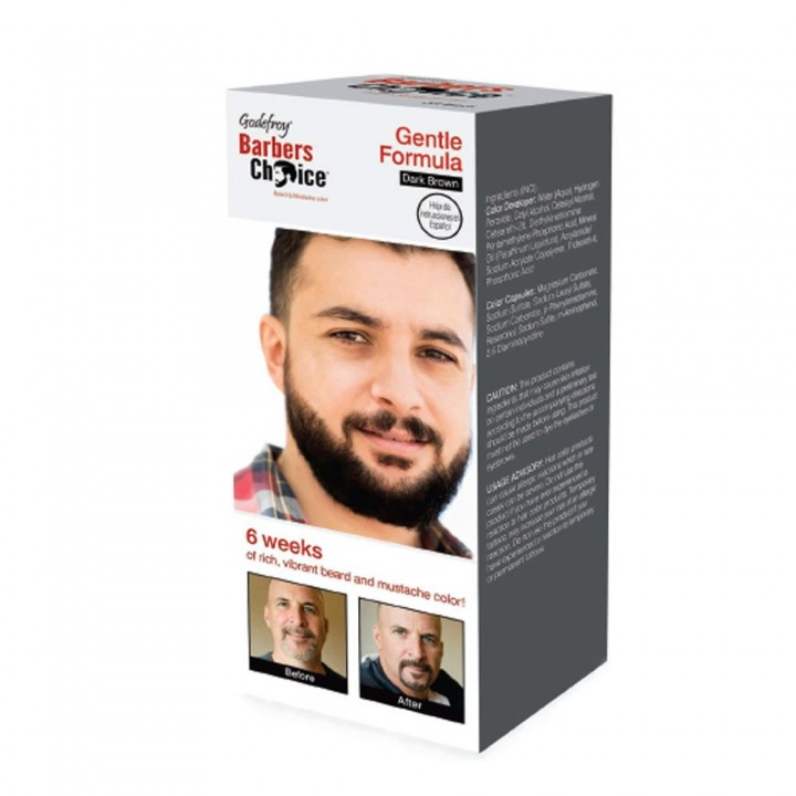 Godefroy Barbers Choice Dark Brown Камуфляж бороды, набор (темно-коричневая)
