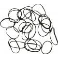 DEWAL Резинки д.волос силикон черные мини 100шт//RES036