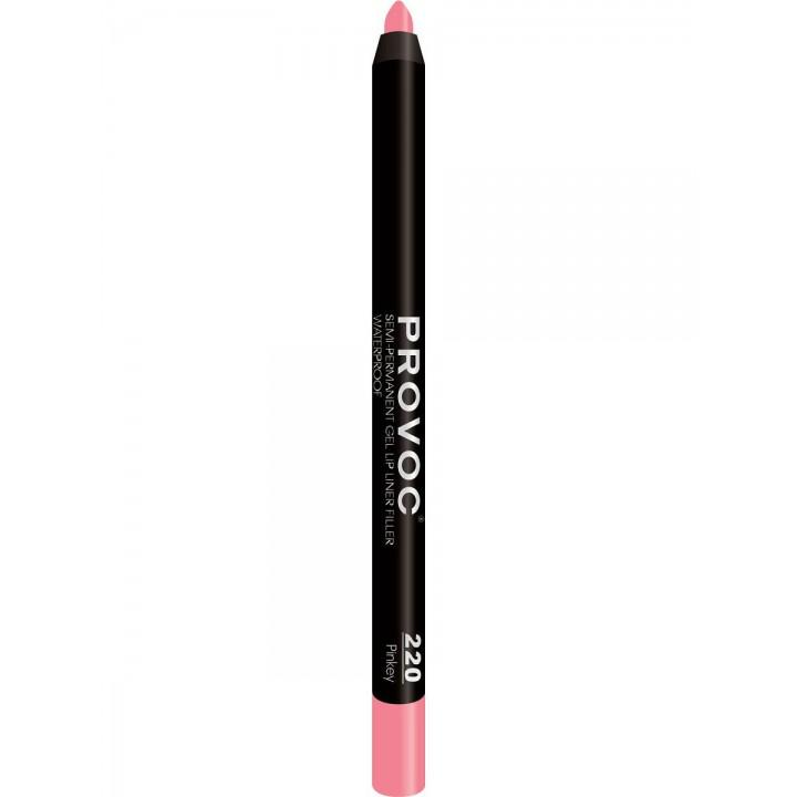 Provoc Gel Lip Liner 220 Pinkey Гелевая подводка в карандаше для губ (розово-бежево-лососевый)