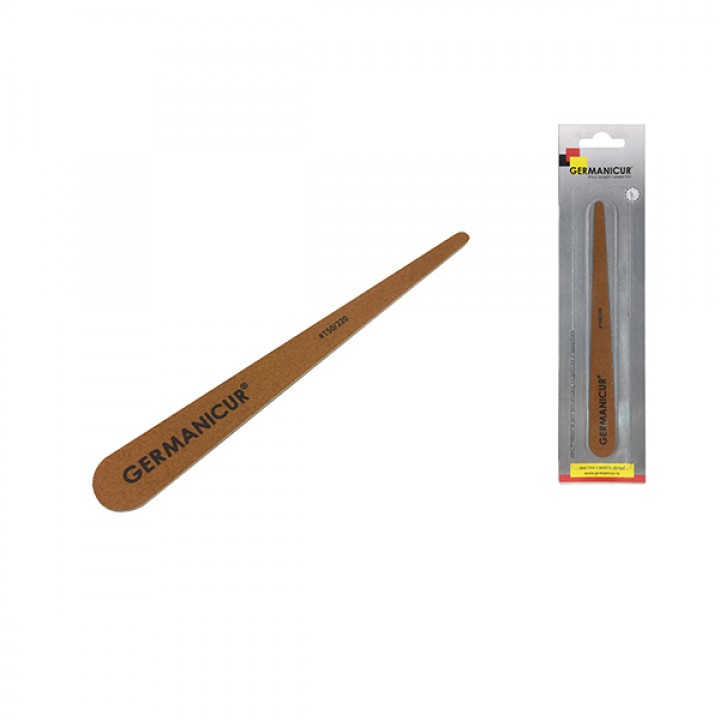 Profcosmo Пилка-наждак  (150/220) на дерев основе конусная коричн (20 шт./уп) //GM-1830-WOOD