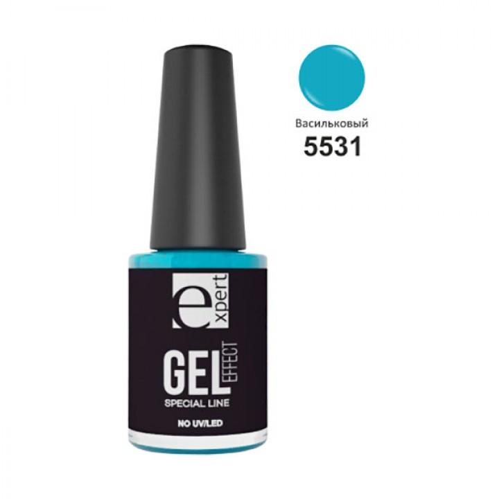 5531 «expert» лак для ногтей с гель-эффектом, 5мл, васильковый