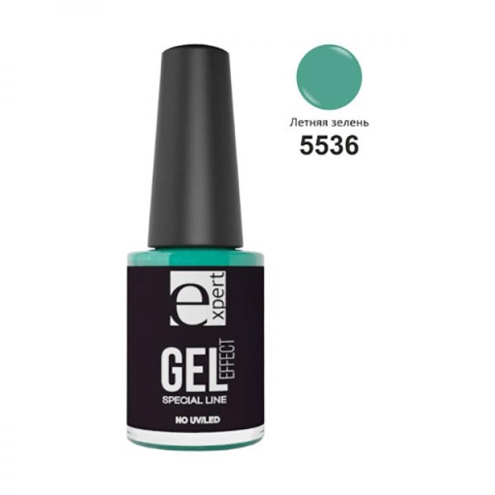 5536 «expert» лак для ногтей с гель-эффектом, 5мл, летняя зелень
