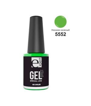 5552 «expert» лак для ногтей с гель-эффектом, 5мл, неоново-зеленый