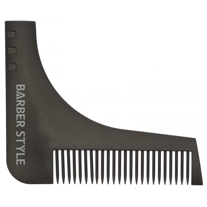 DEWAL Расчёска для бороды (черная , 9,5х11 см)