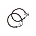 DEWAL Резинки д.волос с крючком, коричневая 2 шт/уп/MI-8014