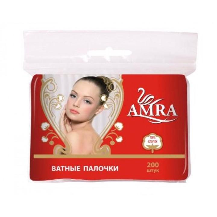 BG AMRA Ватные палочки (в пакете) 200шт