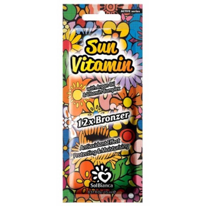SolBianca Sun Vitamin крем для загара в солярии 12 бронзаторов 15мл.