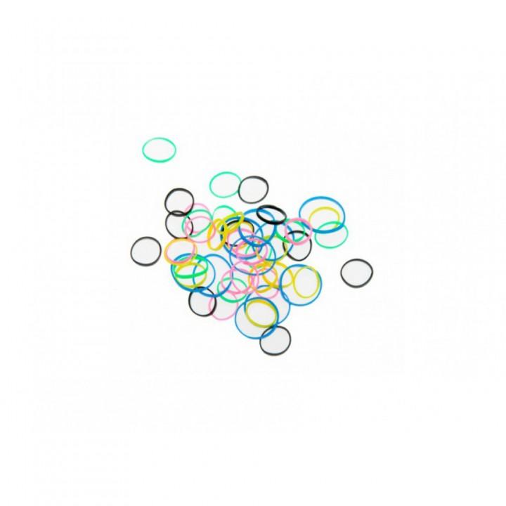DEWAL Beauty Резинки д.волос силикон цветные mix mini 50шт//DBR20