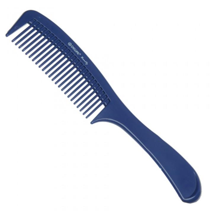 DEWAL Beauty Расчёска с ручкой, синяя 22,0 см