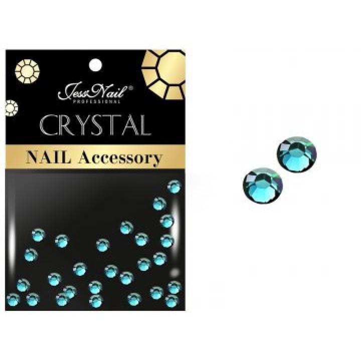 JN Стразы стекло (голубые, ss4, 30 шт)