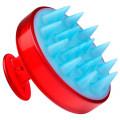 MELON Массажная щетка для мытья головы красная круп зубчики//МЕМ019