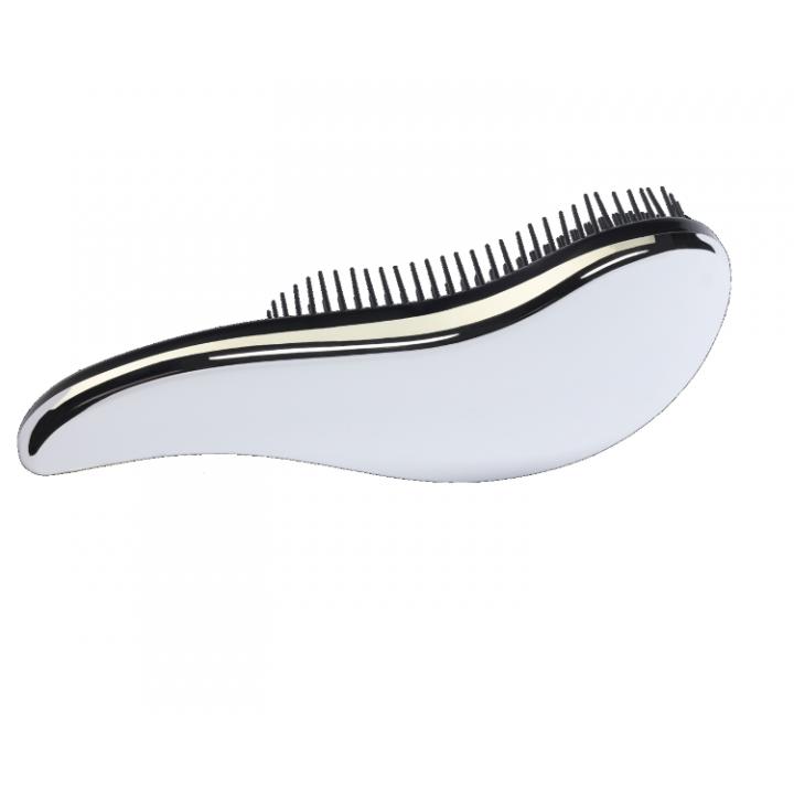 MELON Щетка для волос и массажа кожи головы МР с многоуров.щетинками, серебро 186*80мм