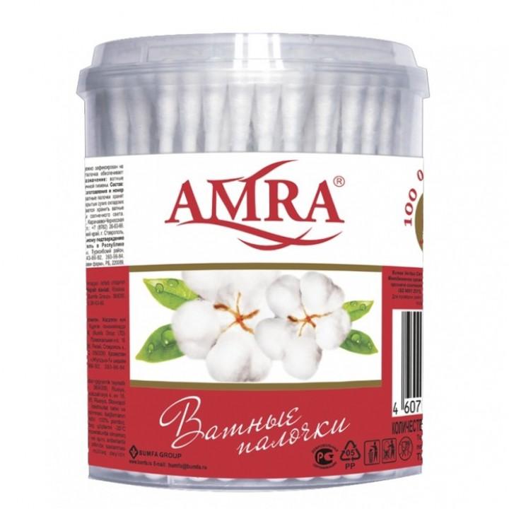 BG AMRA Ватные палочки (цилиндр) 100шт